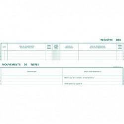 EXACOMPTA 91E Registre 24x32 mm Mouvements de Titres 100 Pages