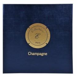 EXACOMPTA Classeur pour 100 Capsules de Champagne 25 x 25 cm Bleu Marine