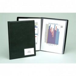 EXACOMPTA Protège documents Premium Goldline PVC 14/100eme 50 poches pour A4 Noir
