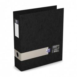 OXFORD Classeur à levier Big File étudiant A4 dos 80 mm noir avec bande de couleur aléatoire