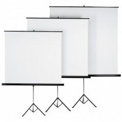 HAMA Ecran de projection sur pied 180 x 180 cm, blanc