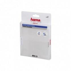HAMA Pochettes de protection pour CD/DVD paquet de 25 Transparent