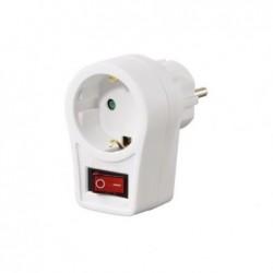 HAMA Adaptateur de prise de courant avec interrupteur marche/arrêt Blanc