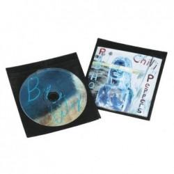 HAMA Lot de 50 Pochettes de protection pour CD/DVD Noir