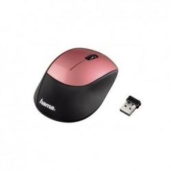 """HAMA Souris optique USB sans fil """"M2150"""" Noir/Vieux rose"""