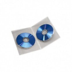 """HAMA Lot de 5 Boîtiers """"Slim"""" double pour DVD Transparent"""