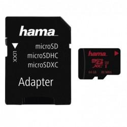 HAMA Carte microSDXC 64GB...