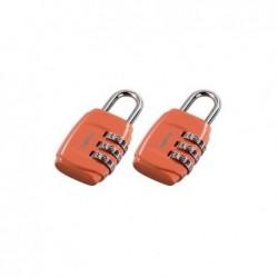 HAMA Cadenas à combinaison pour bagage lot de 2 orange