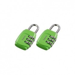 HAMA Cadenas à combinaison pour bagage lot de 2 vert