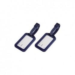 HAMA Porte-étiquette à bagage lot de 2 bleu foncé