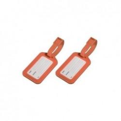 HAMA lot de 2 Porte-étiquette à bagage orange