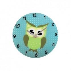 HAMA Horloge murale Chouette modèle silencieux en verre