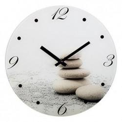 HAMA Horloge murale PIERRE modèle silencieux 30cm en verre