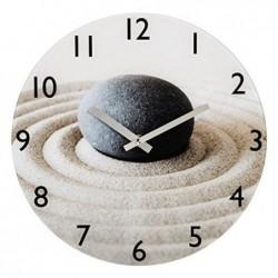 HAMA Horloge murale SABLE et PIERRE Silencieuse en verre 30 cm