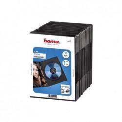 """HAMA Lot de 25 Boîtiers """"Slim"""" pour 1 DVD Noir"""