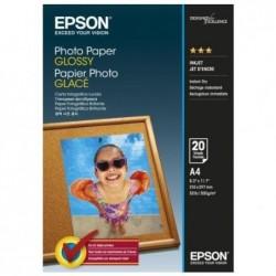 EPSON paquet de 20 feuilles Papier Photo  A4 C13S042538