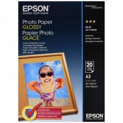 EPSON paquet de 20 feuilles Papier photo Glossy A3 200g