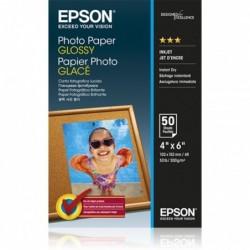 EPSON Pack de 50 feuilles papier photo jet d'encre glossy 10x15 cm 200g