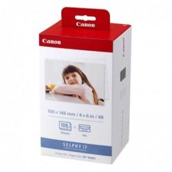 CANON Pack 3 Cartouche Jet d'encre Couleur KP-108IN+ Kit Papier Photo Capacité 108 pages