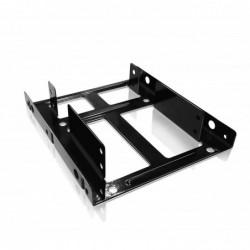 """RAIDSONIC Adaptateur Métal pour baie de stockage 3.5"""" to 2 x 2.5"""" Noir"""
