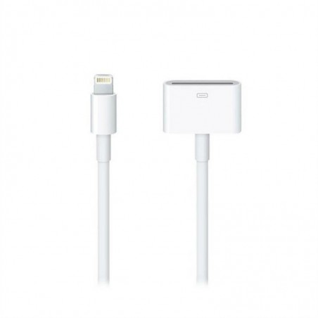APPLE Câble adaptateurLightning Original Apple vers 30 broches 0,2 m Blanc