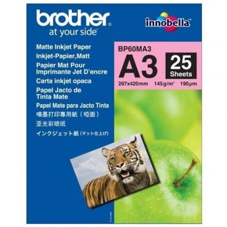 BROTHER Papier Jet d'encre mat A3 145g (25 feuilles)