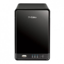 "D-LINK Enregistreur Caméra IP mydlink 2 baies SATA 3,5"" USB Ethernet Noir"