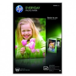 HP Paquet de 100 feuilles papier photo EVERYDAY 200g GLOSSY 10x15 cm
