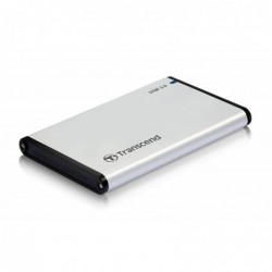 """TRANSCEND Boîtier pour Disque Dur 2,5"""" USB 3.0 Gris"""