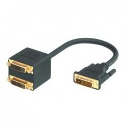 MCL SAMAR Câble adaptateur DVI-I Mâle vers 2 DVI-I Femelle 20 cm