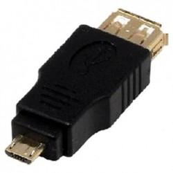 MCL SAMAR Adaptateur USB - USB à 4 broches, type A (F) - Micro-USB Type B à 5 broches (M)