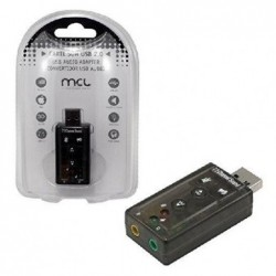 MCL SAMAR Convertisseur USB 2.0 vers Audio effet 7.1