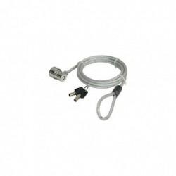 PORT DESIGNS Câble de sécurité à clé pour PC portable, longueur 1,80 mètres, 2 clés.