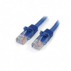 STARTECH.COM Câble réseau Cat5e UTP sans crochet de 30 cm Mâle / Mâle - Bleu