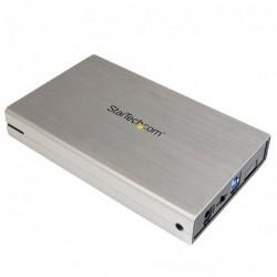 """STARTECH.COM Boîtier USB 3.0 pour disque dur SATA III de 3,5 """" support UASP  Alu Argent"""