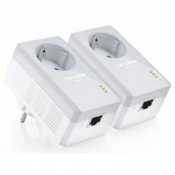 TP-LINK Pack de 2 Mini Adaptateurs CPL 500 Mbps avec prise intégrée 1 port Ethernet