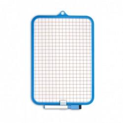 JPC Ardoise effaçable cadre couleur 18,5x26 cm Face unie / Face Quad 10x10mm