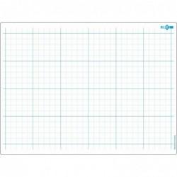 JPC Educ'ardoise effaçable 24 x 32 cm quadrillage et seyes