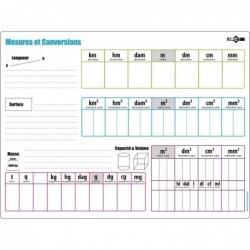 JPC Educ'ardoise effaçable 24 x 32 cm mesures / conversions