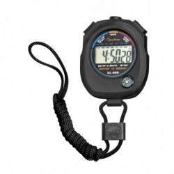 JPC Chronomètre avec mode alarme, résistant à l'eau, noir