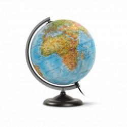 """JPC Globe terrestre lumineux 25 cm """"basic"""" bleu"""