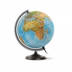 """JPC Globe terrestre lumineux 30 cm """"First"""" Bleu"""