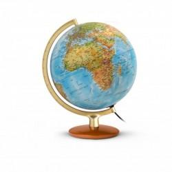 """JPC Globe terrestre lumineux 30 cm """"premium"""" en RELIEF bleu"""