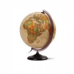 "JPC Globe terrestre lumineux 30 cm ""First"" Antique"