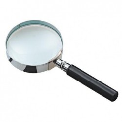 JPC Loupe verre Diametre 75mm entourage chrome