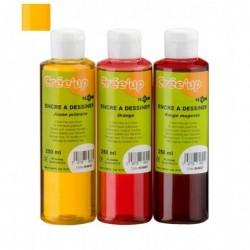 JPC encre a dessiner 250 ml / jaune primaire