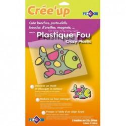 "JPC Pqt de 3 feuilles ""Plastique fou""  (L)200 x(H)300 mm"
