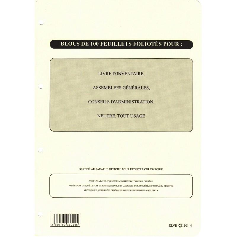 ELVE Recharge Classeur (Assemblée, Délibération Etc..) 297 x 210 Folioté 4 trous 100P