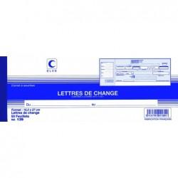 ELVE Carnet LETTRES DE CHANGE 102 x 270 mm 50 Feuillets