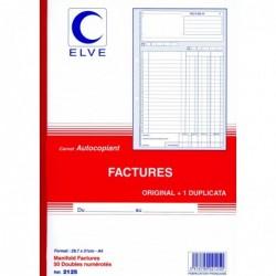 ELVE Manifold FACTURES 297 x 210 mm 50 feuillets Dupli